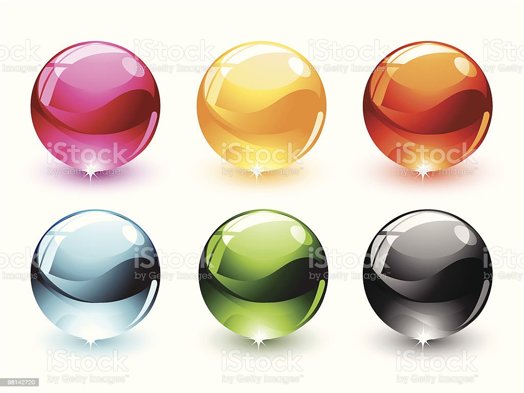 Colorful sphere illustrations against a white background royalty-free colorful sphere illustrations against a white background stock vector art & more images of black color