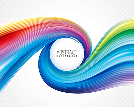 Colorful Spiral Abstract Background