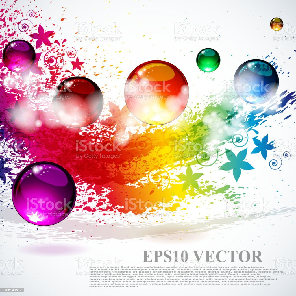 Colorful splash background royalty-free colorful splash background stock vector art & more images of abstract