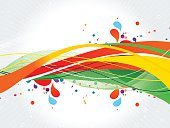 Colorful splash design-Stock Illustration