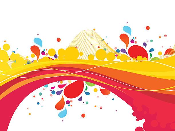 Colorful splash design-Stock Illustration - ilustración de arte vectorial