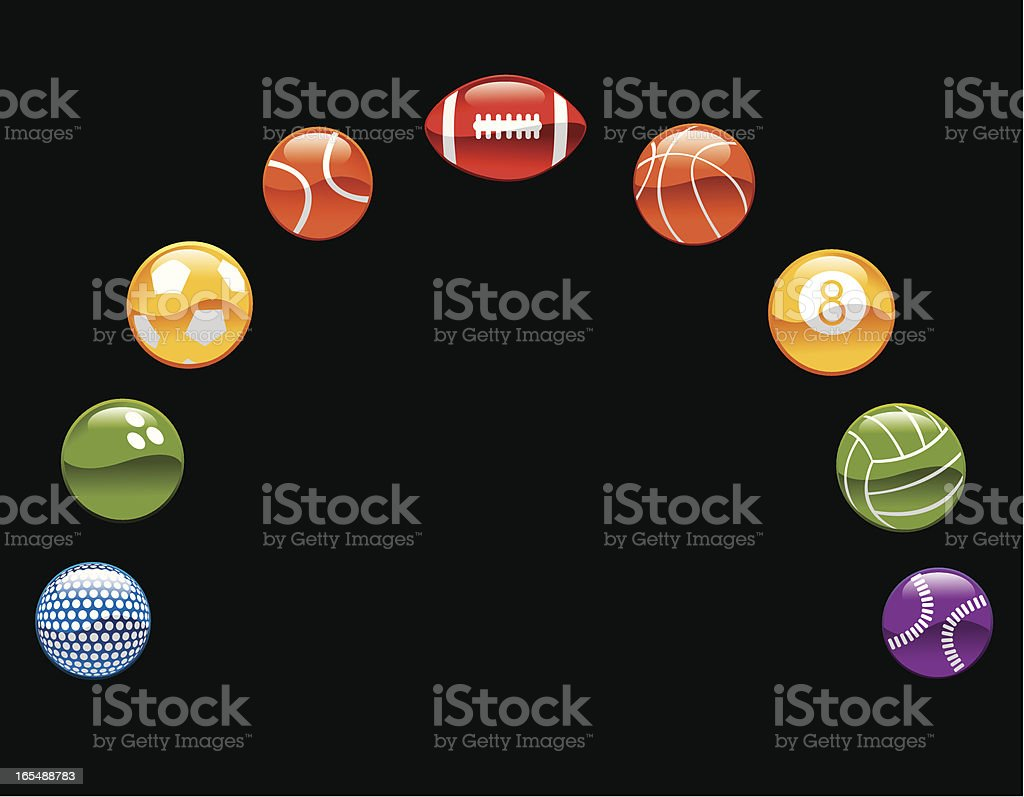 Colorful sports balls royalty-free stock vector art