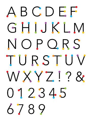 Colorful Spots Alphabet
