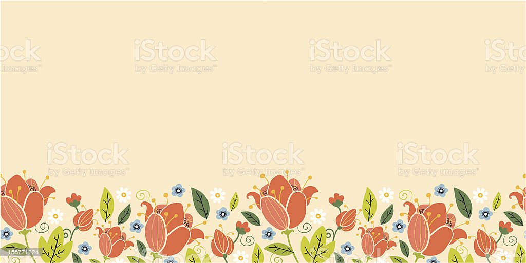 Colorful spring floral horizontal seamless pattern royalty-free colorful spring floral horizontal seamless pattern stock vector art & more images of backgrounds