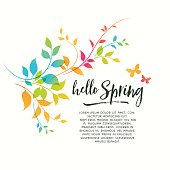 Colorful spring graphic flourishes.EPS 10 file with transparencies.File is layered and global colors used.Hi res jpeg without text included.More works like this linked below.http://www.myimagelinks.com/Lightboxes/spring_files/shapeimage_2.png