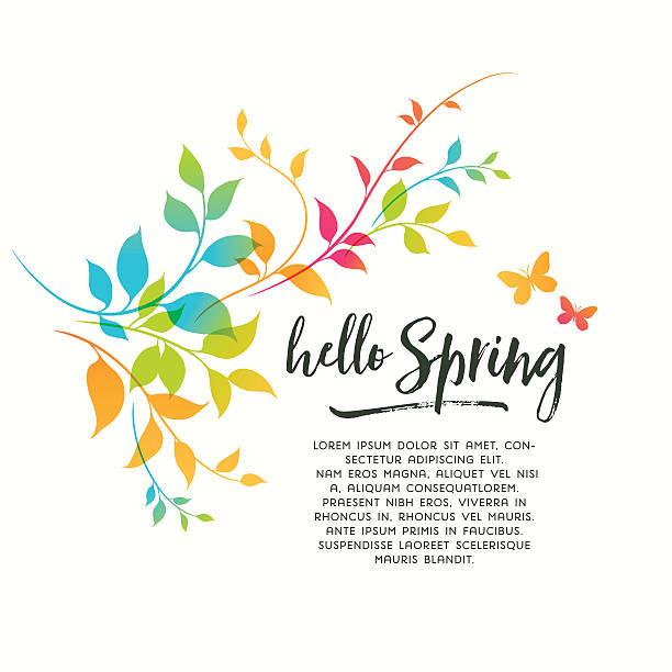 illustrations, cliparts, dessins animés et icônes de touches de couleurs printemps - printemps
