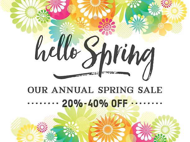 illustrations, cliparts, dessins animés et icônes de motif de fleurs de printemps coloré frontières - printemps