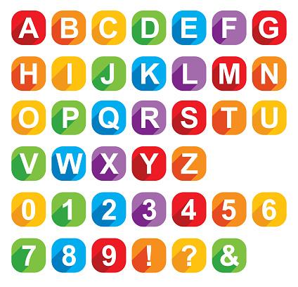 Colorful Squares Alphabet