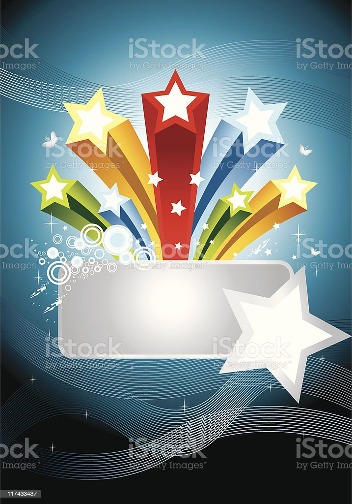 Colorful Star Banner royalty-free stock vector art
