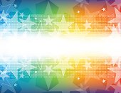 Vector of star glowing lights abstract theme with colorful color background.