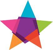 Colorful star social community vector illustration