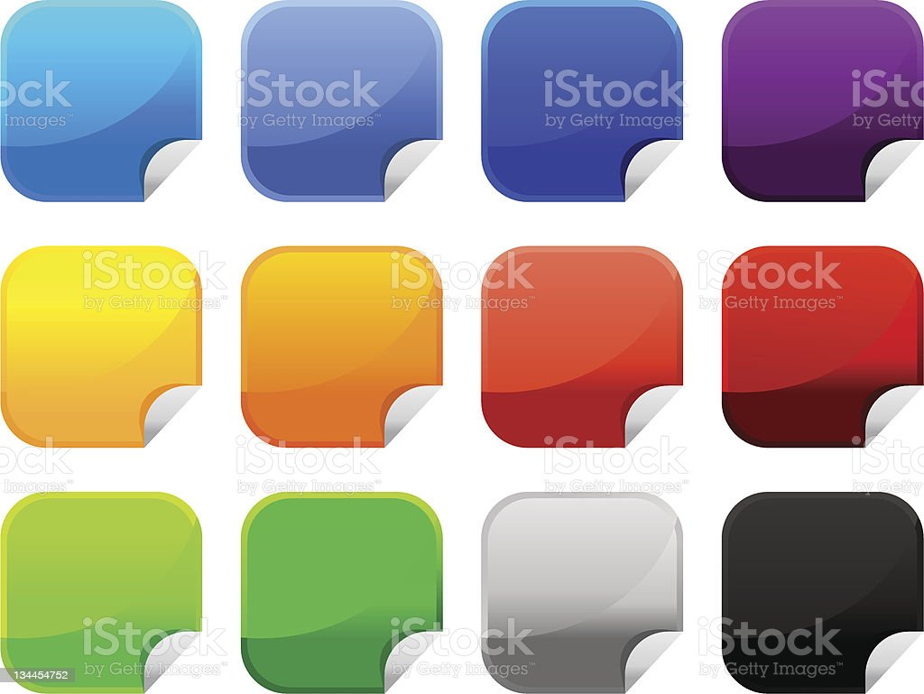 Colorful Sticker Icon royalty-free stock vector art
