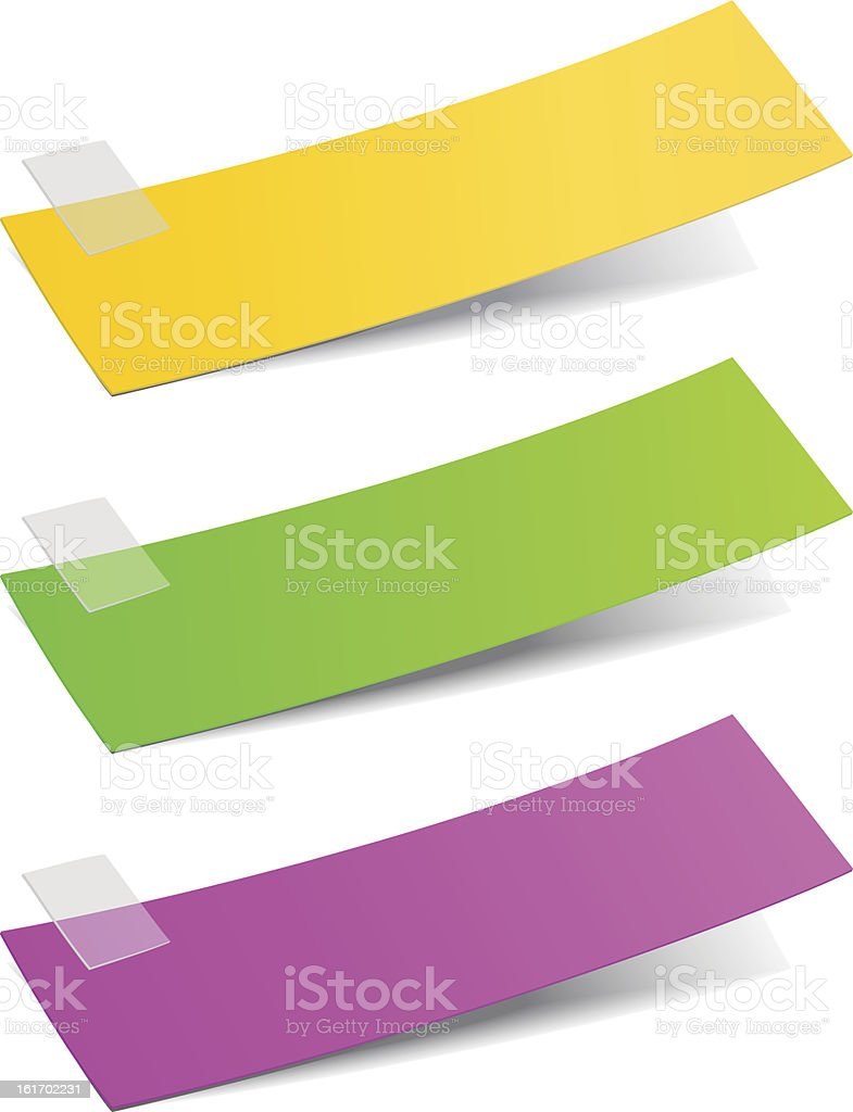 Colorful stickers royalty-free stock vector art
