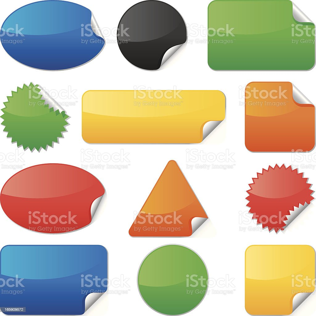 Colorful Stickers (Vector) royalty-free stock vector art