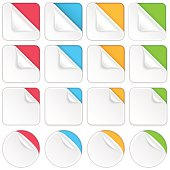 Set of colourful stickers. EPS 10, layered.