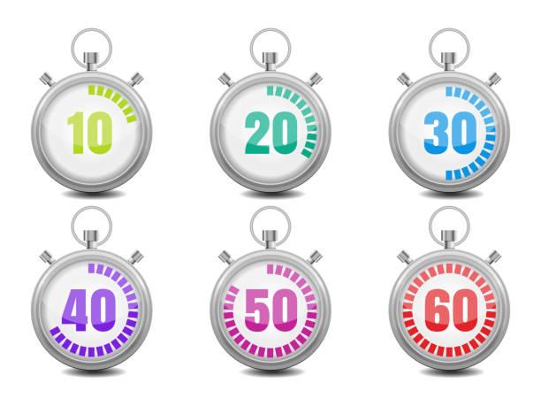 bildbanksillustrationer, clip art samt tecknat material och ikoner med colorful stopwatches - nummer 30
