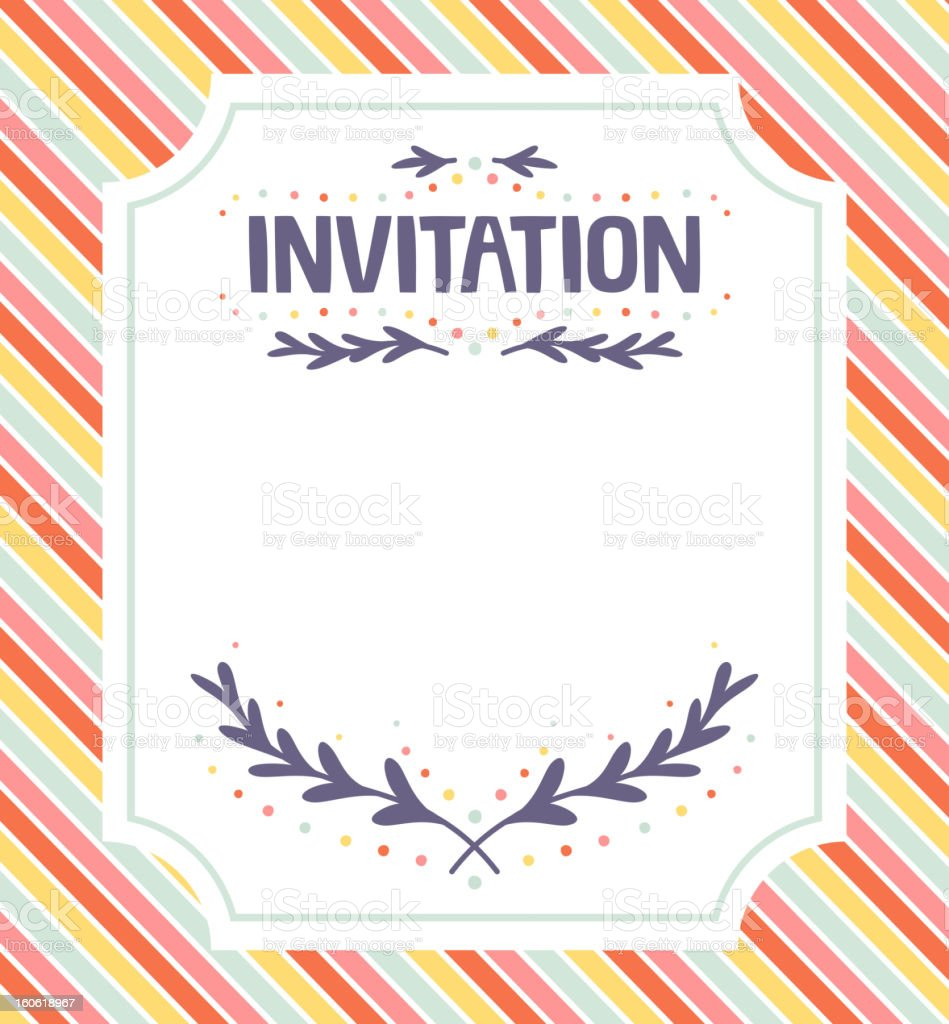 Colorful striped invitation template royalty-free colorful striped invitation template stock vector art & more images of backgrounds