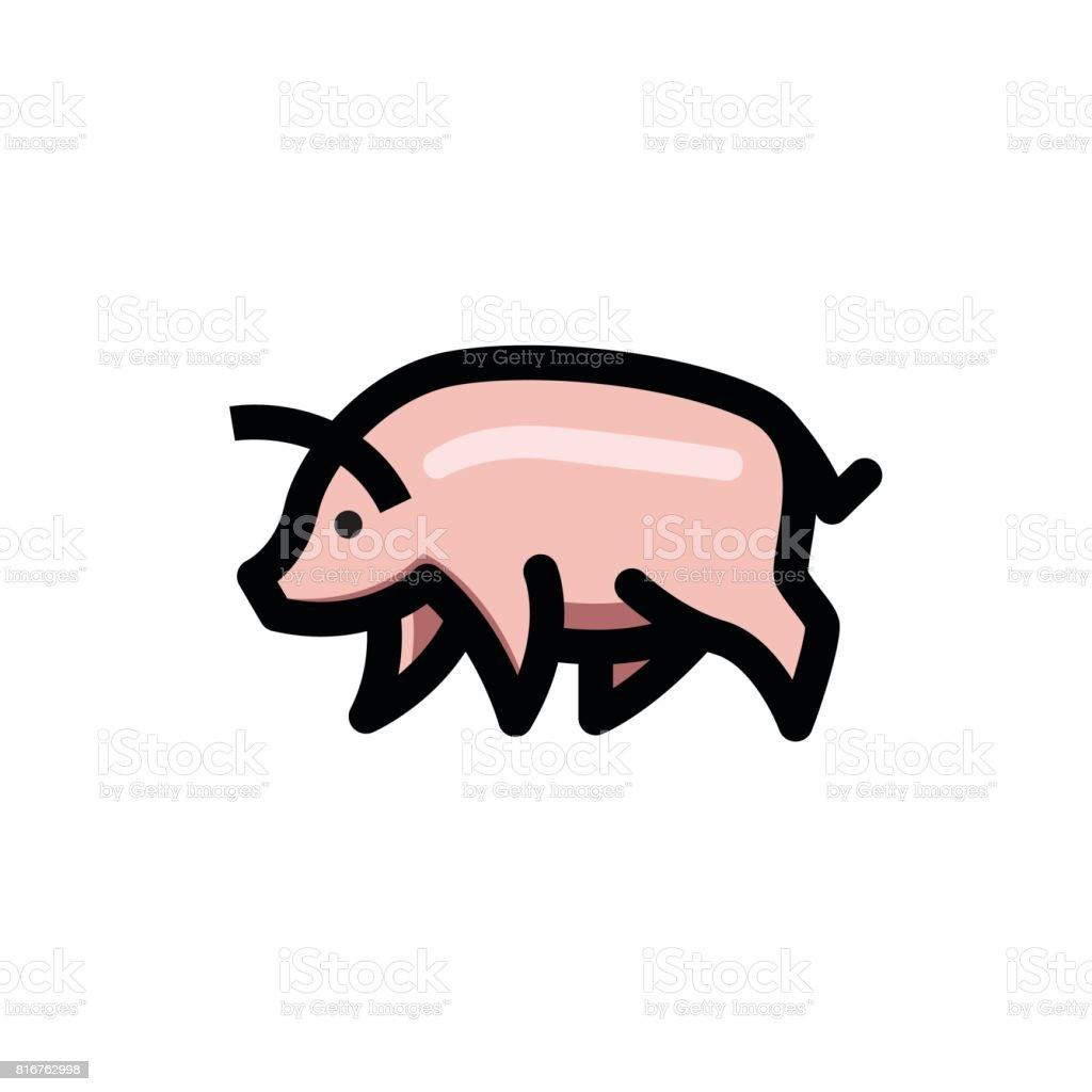 Colorful Stylise Dessin De Cochon Vecteurs Libres De Droits Et Plus D Images Vectorielles De Affaires Istock