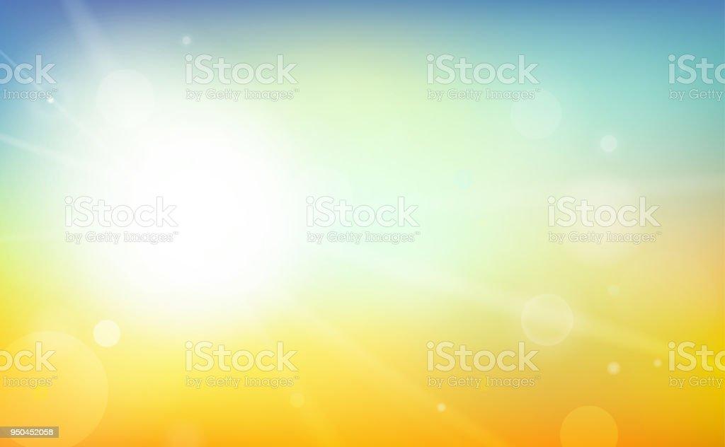 カラフルな夏背景ベクトル図 - まぶしいのロイヤリティフリーベクトルアート