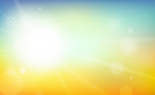 Colorful and Shiny Summer Background Vector Illustration