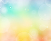 Colorful Summer Background Vector Illustration With Bubbles