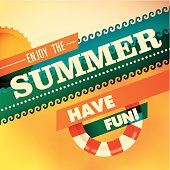 Colorful summer background with modern design.