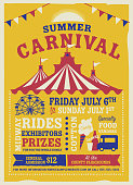 istock Colorful Summer Carnival Poster design template 964569164