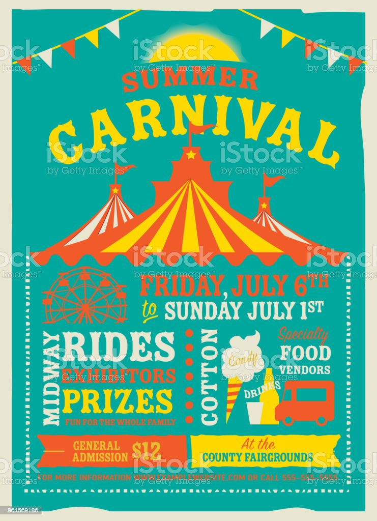 colorful summer carnival poster design template stock vector art