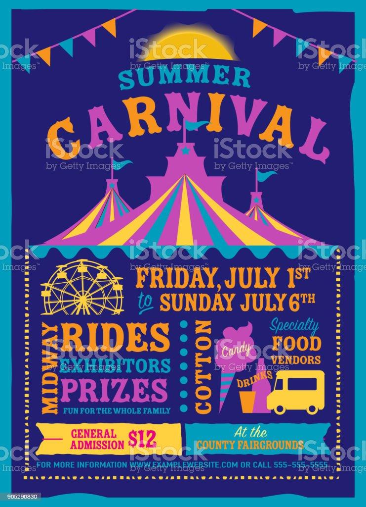 Colorful Summer Carnival Poster design template colorful summer carnival poster design template - stockowe grafiki wektorowe i więcej obrazów chorągiewki royalty-free