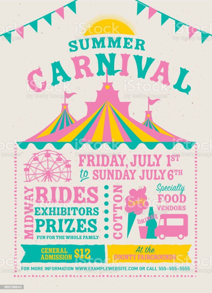 Colorful Summer Carnival Poster design template royalty-free colorful summer carnival poster design template stock vector art & more images of advertisement