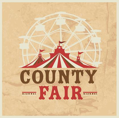 Colorful Summer County Fair emblem design template