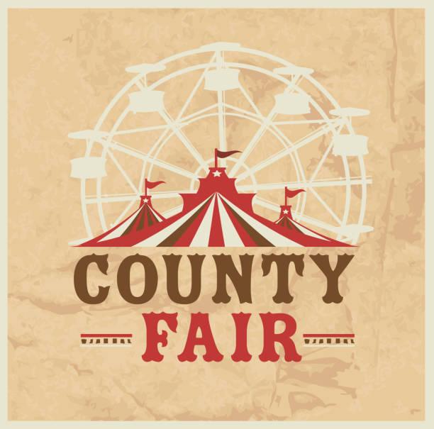 Modèle de conception de Colorful Summer County Fair emblème - Illustration vectorielle