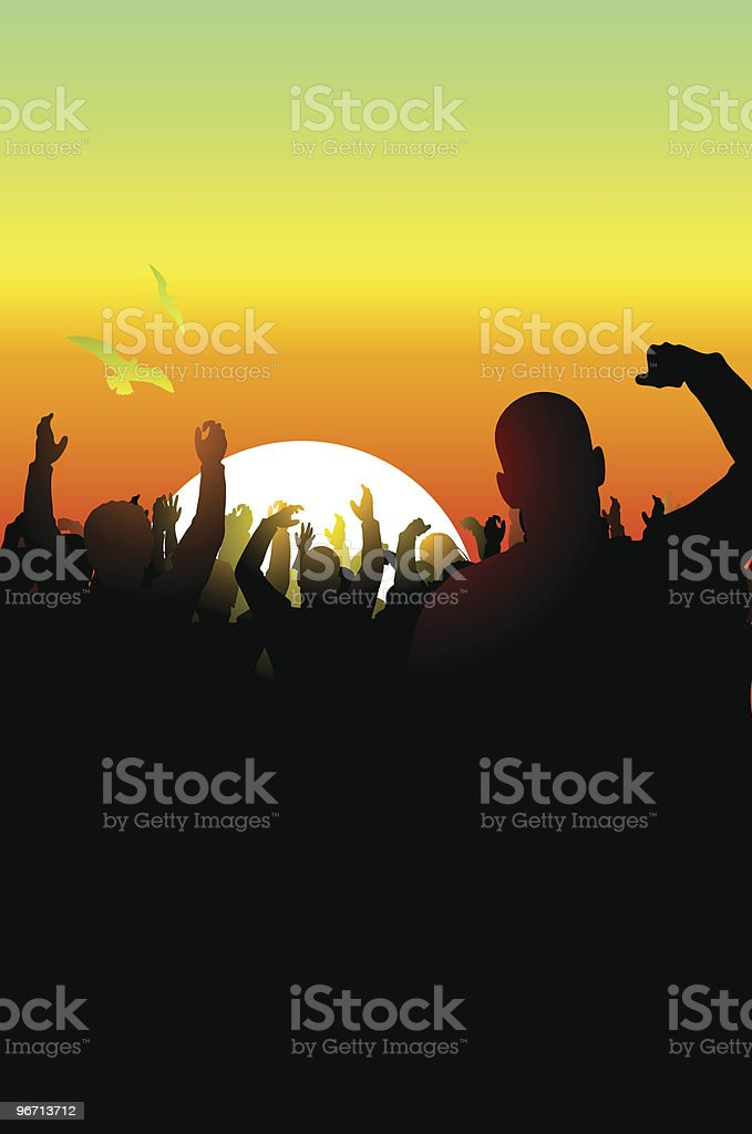 Colorful Sunset royalty-free stock vector art