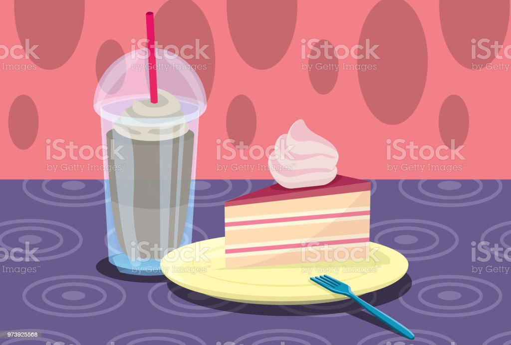 Colorful Sweets vector art illustration