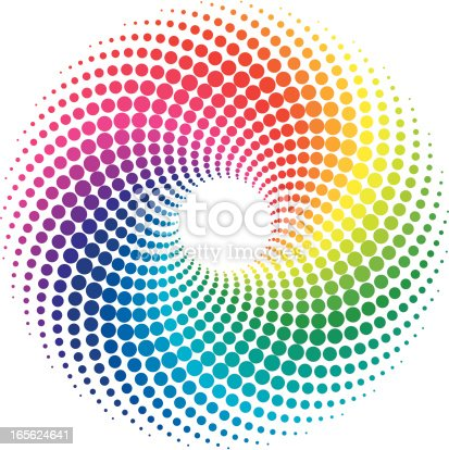 the vector illustration of colorful swirl