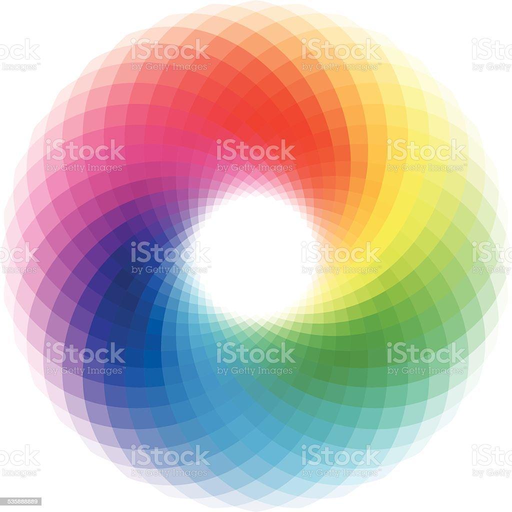 colorful swirl vector art illustration