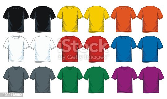 istock colorful t shirt collection for men. 1022148890