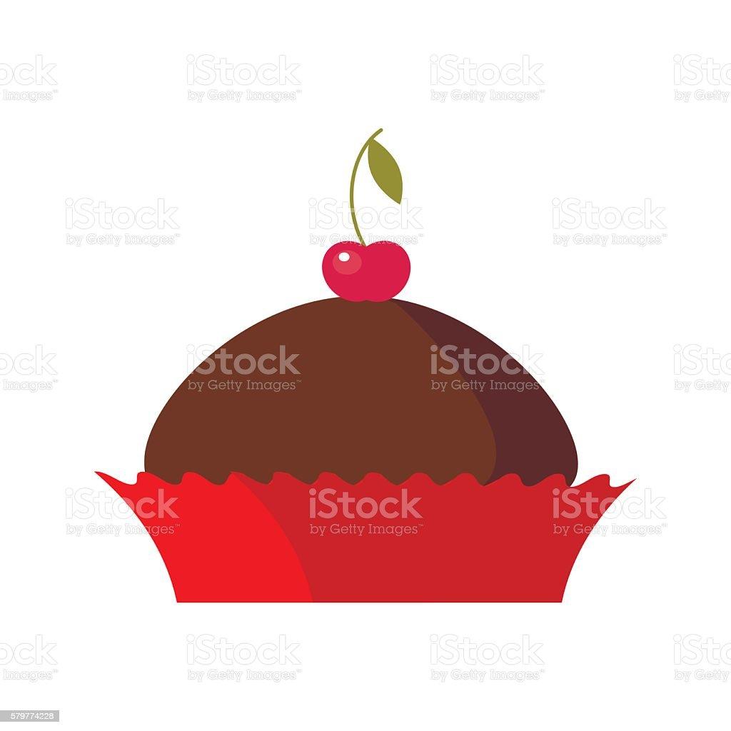 Colorful Tasty Birthday Cake Or Pie Bakery Desserts Icon Lizenzfreies