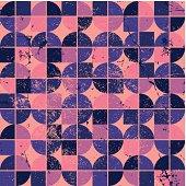 Colorful tattered textile geometric seamless pattern, decorative