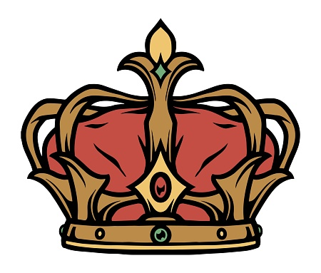 Colorful tattoo concept of royal crown