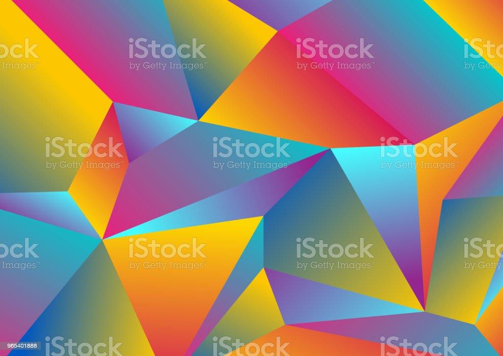 彩色技術低聚碎片抽象背景 - 免版稅Low-Poly-Modelling圖庫向量圖形