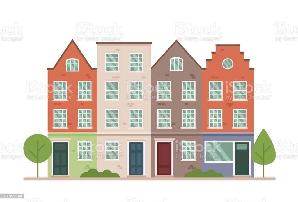 Ilustración De Terraza Colorida Ilustración De Vector Urbano