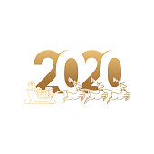 Happy New Year Eve 2020 Celebration vector design. New Year 2020 with Luxury Gold Color and isolated on white background. Cool Holiday New Year Banner, Greeting card, logo vector illustration.2020 colorful Text isolated on white background, New Year 2020, 2020 text for Calendar New years, Happy New Year 2020,2020 Beginning concept, Number 2020, New Year 2020 Creative Design Concept, New 2020 vector.
