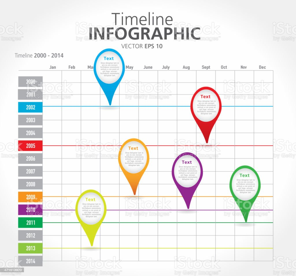 Colorful Timeline Infographic With Graph Comparison Stock ...