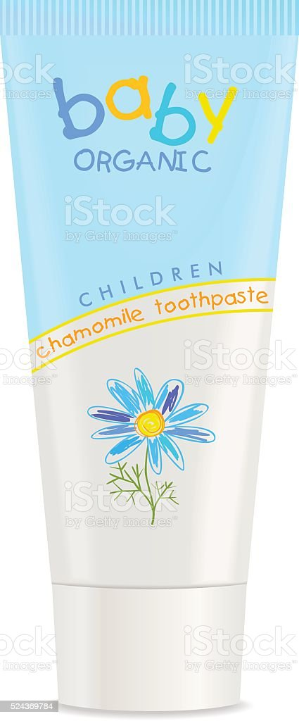 Colorful toothpaste tube isolated on white. Vector vector art illustration