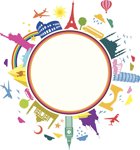 Farbenfrohes Reisen Sie Symbol – Vektorgrafik