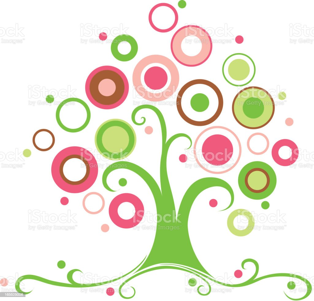 Colorful Tree royalty-free stock vector art
