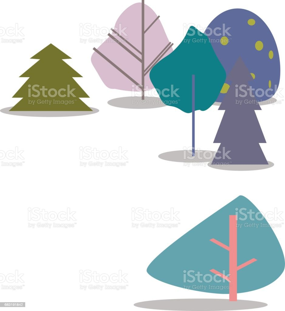 흰색 바탕에 화려한 나무입니다. 벡터 일러스트입니다. royalty-free 흰색 바탕에 화려한 나무입니다 벡터 일러스트입니다 0명에 대한 스톡 벡터 아트 및 기타 이미지