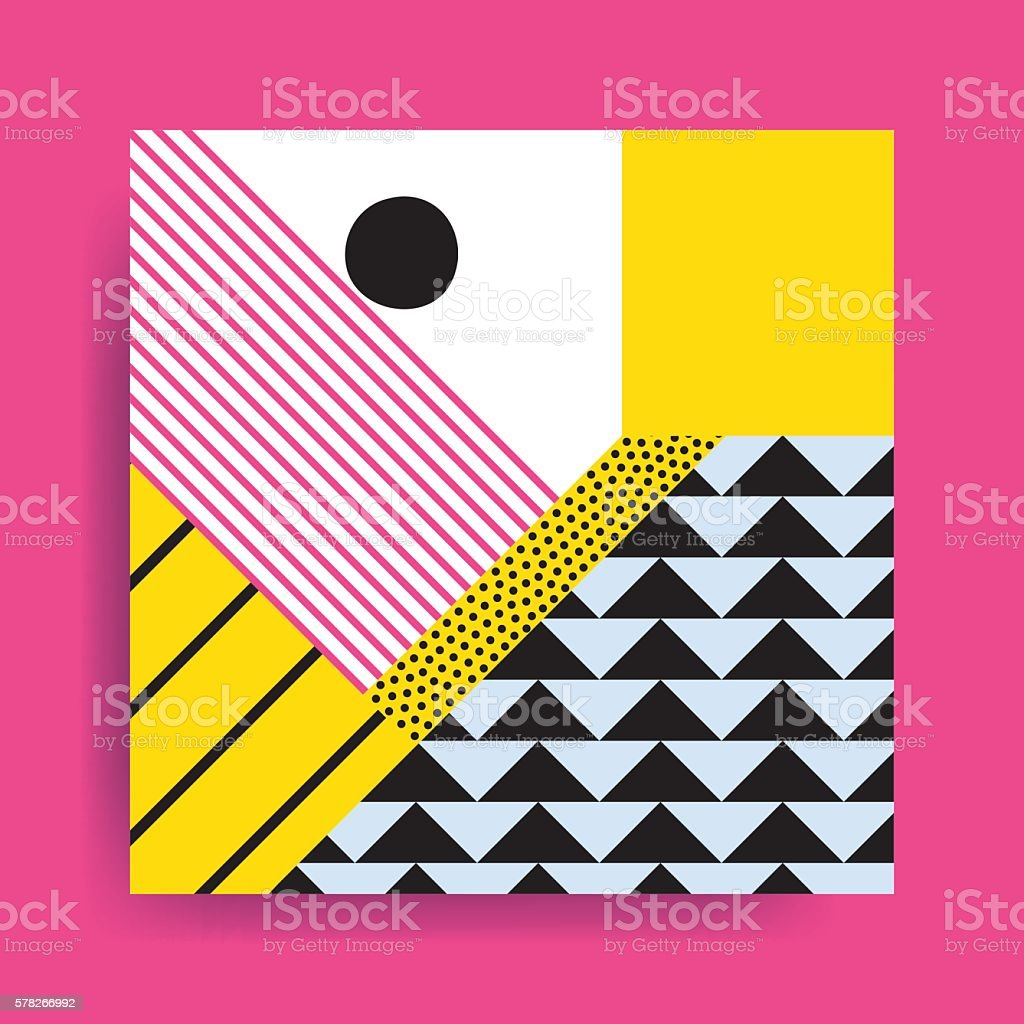 Colorful trend  geometric pattern vector art illustration