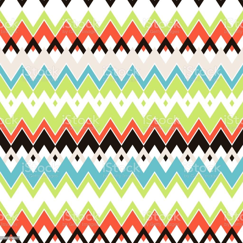 colorful trendy wavy line seamless pattern, wallpaper, texture vector design vector art illustration